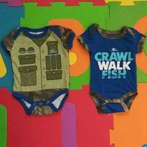 """ Crawl, Walk, Fish"" Bodysuit Bundle"